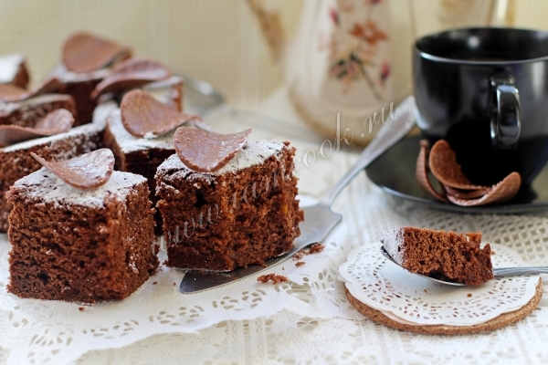 Recipe for brownie with pumpkin