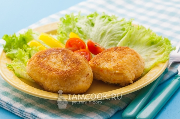 Photo of cutlets from crab sticks with cheese and garlic