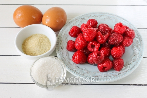 Ingredientes para mousse de frambuesa