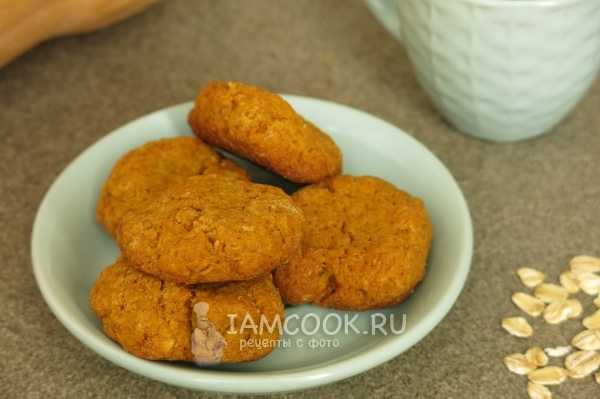 Recipe for cookies from pumpkin and oat flakes