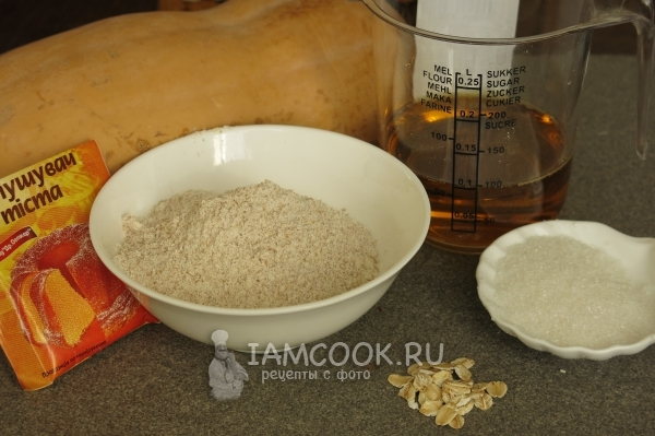 Ingredients for Pumpkin and Oatmeal Cookies