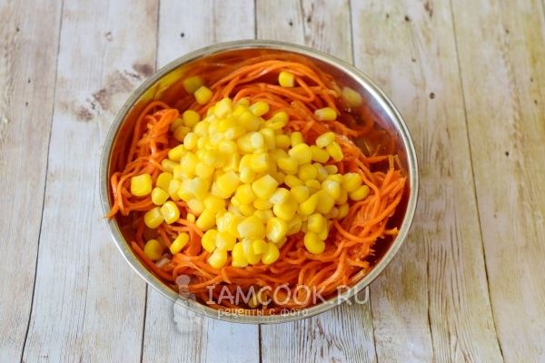 Add carrots and corn