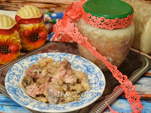 Pork stew with pearl barley